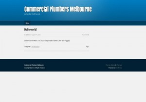 Commercial Plumbers Melbourne