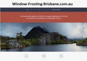 Window Frosting Brisbane