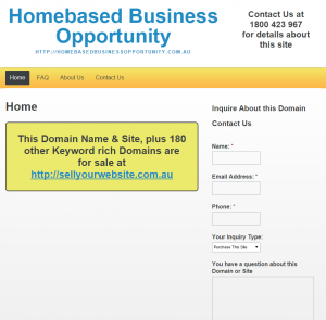 Homebased Business Opportunity